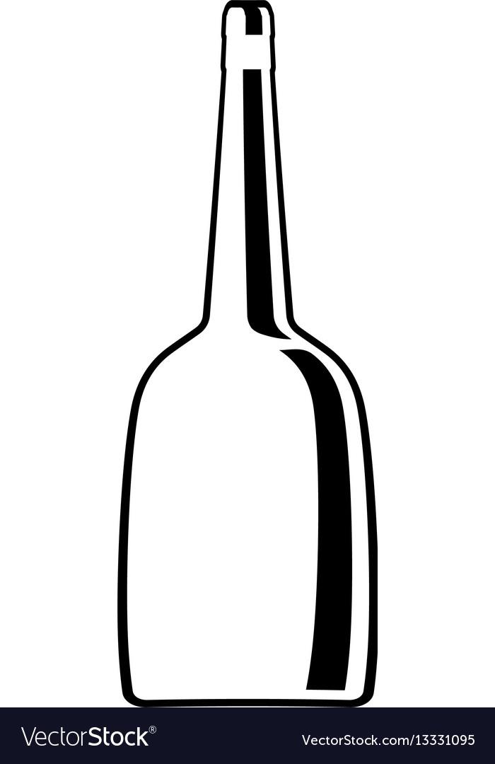 Glass bottle wine line design