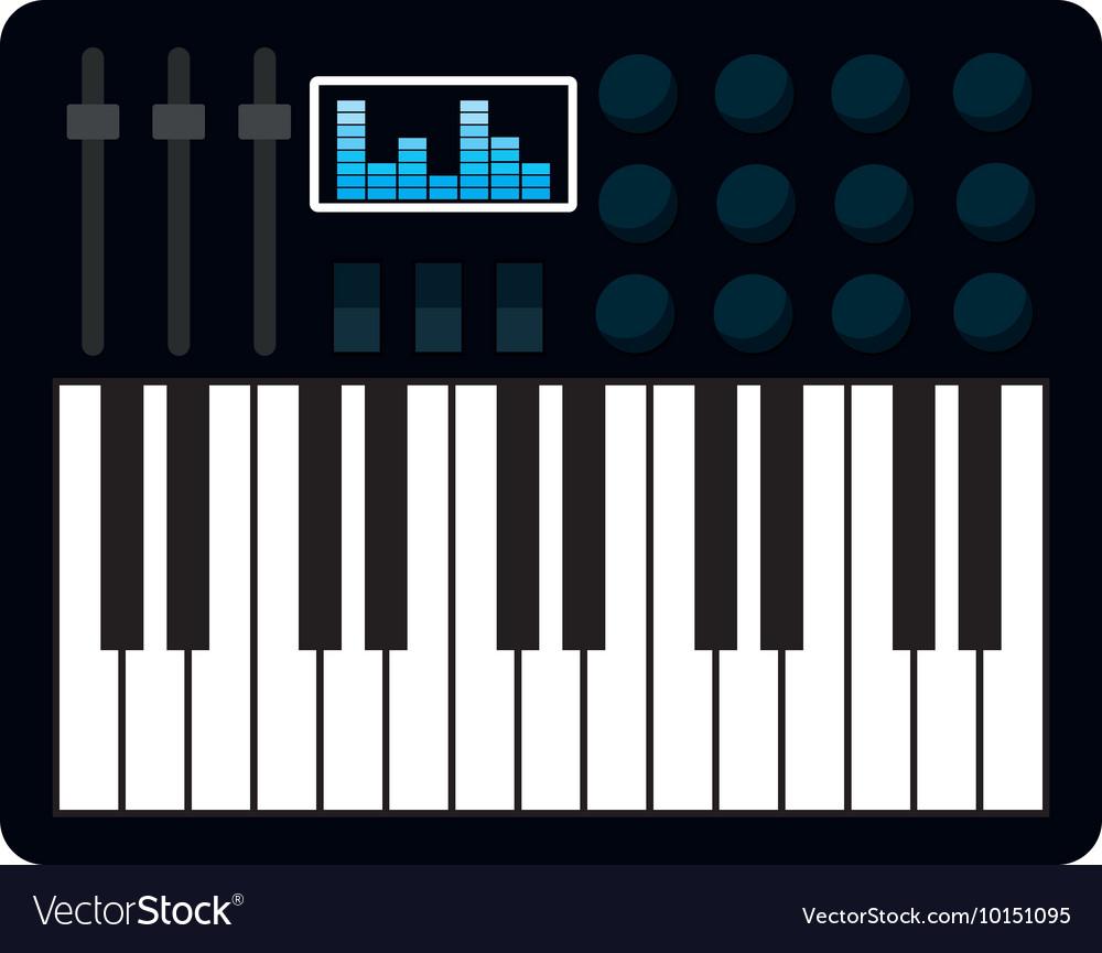 Piano instrument music icon graphic