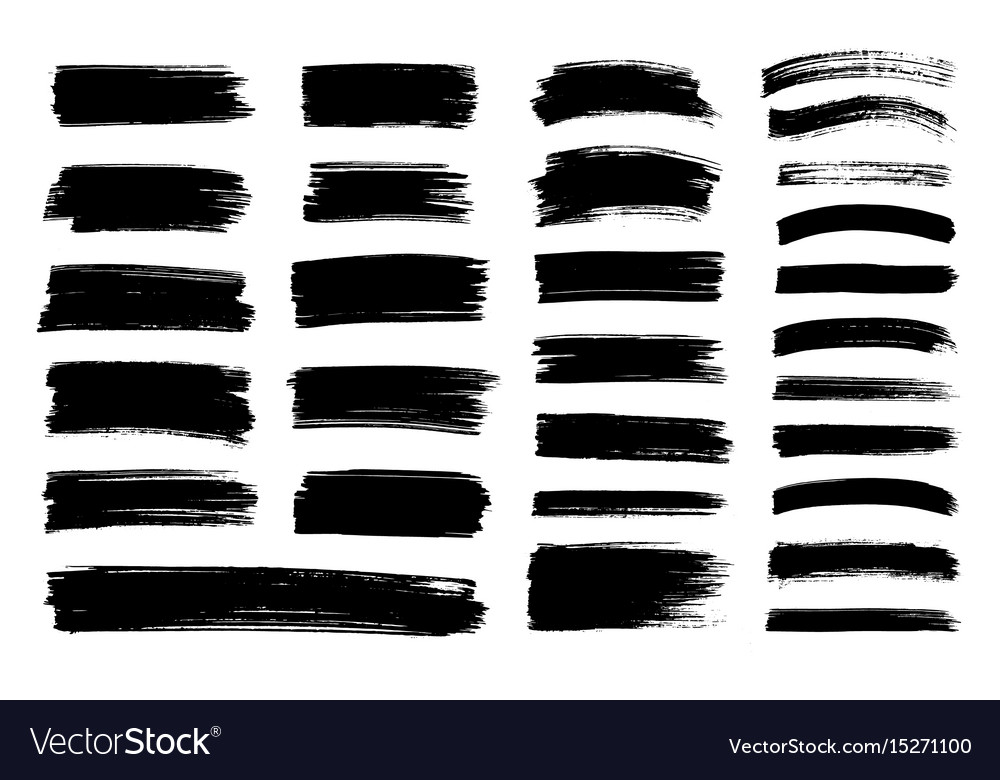 Charmant Black Paint Ink Brush Stroke Texture Vector Image