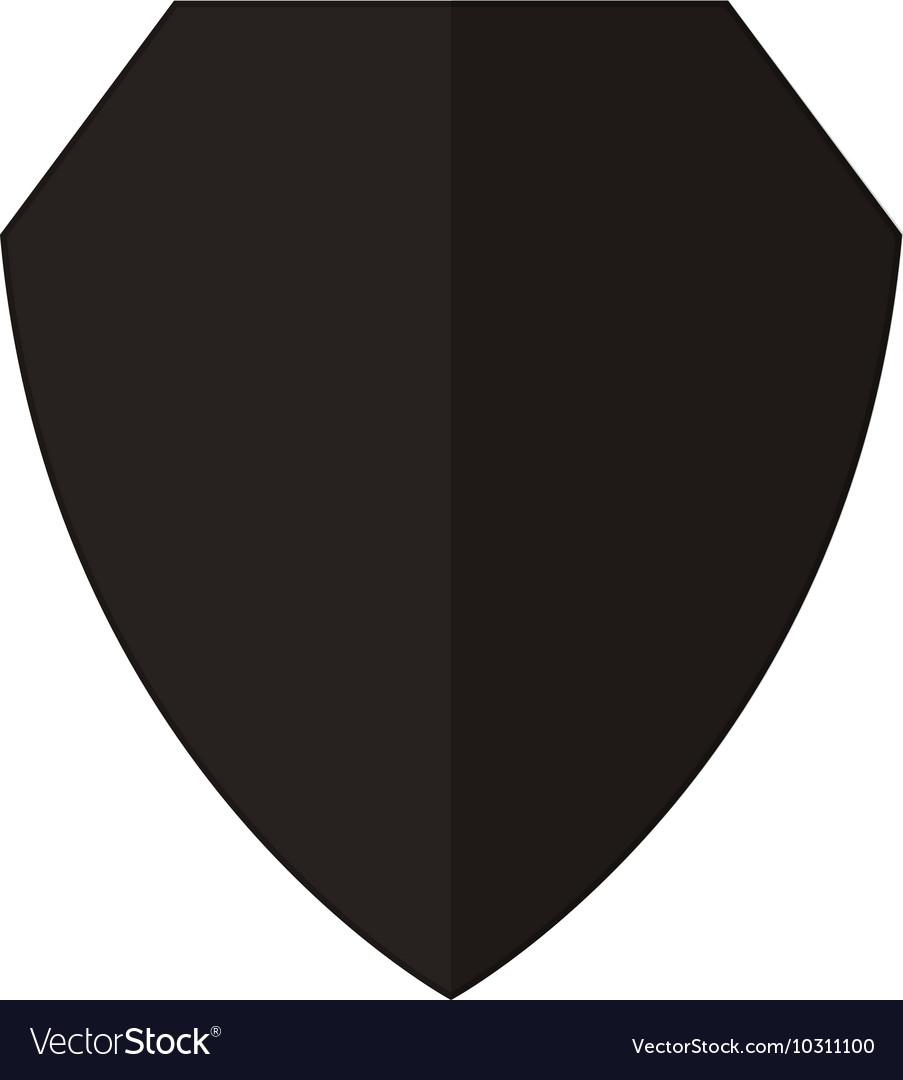 blank shield icon royalty free vector image vectorstock rh vectorstock com vector shield mounting media vector shield with dapi