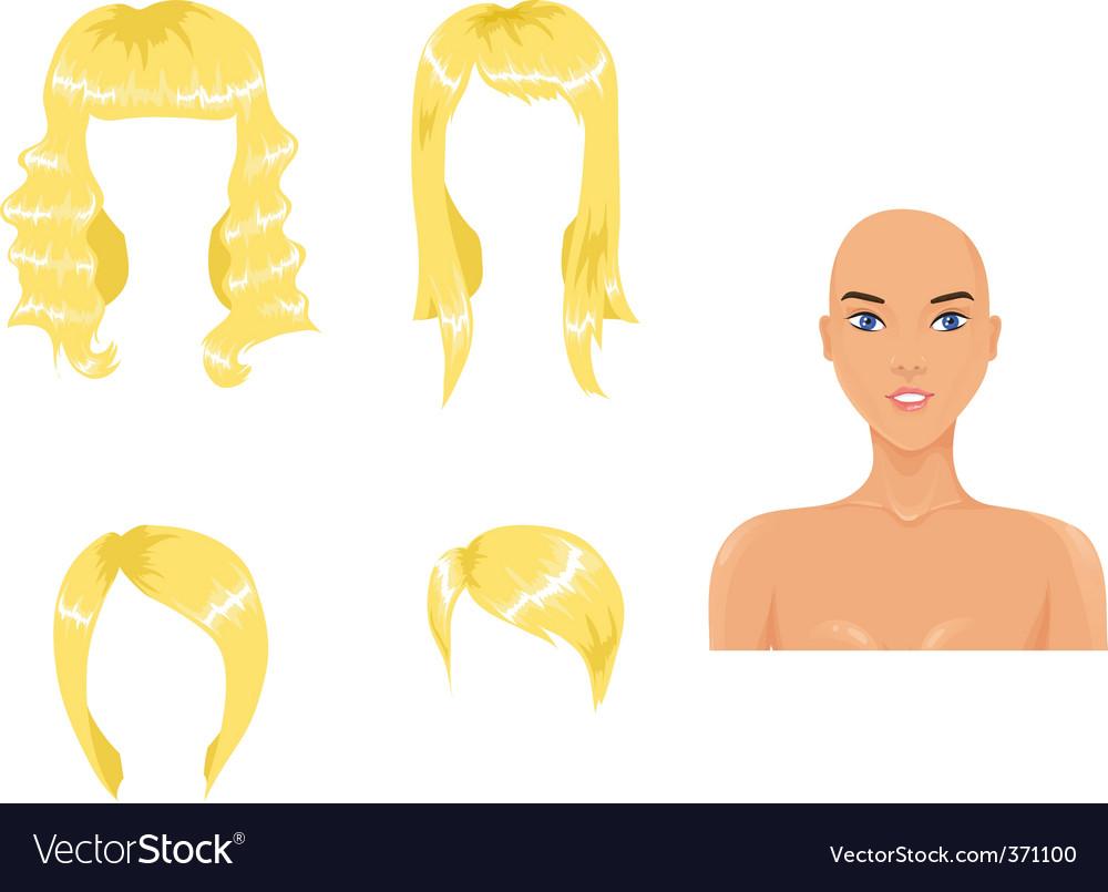 Blond hair vector image