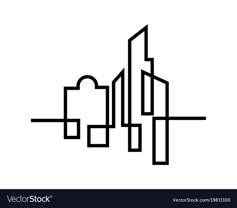 City silhouette flat design