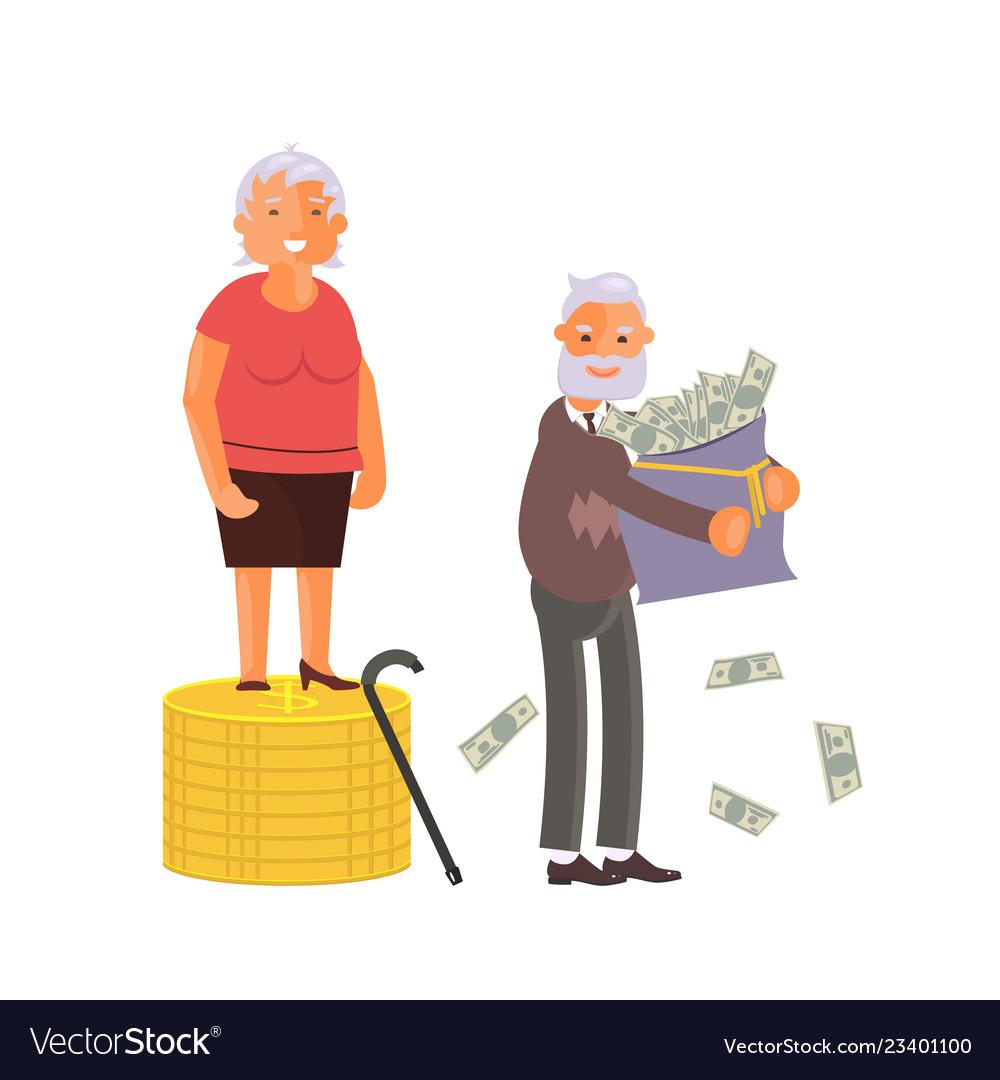 Concept of retirement money plan