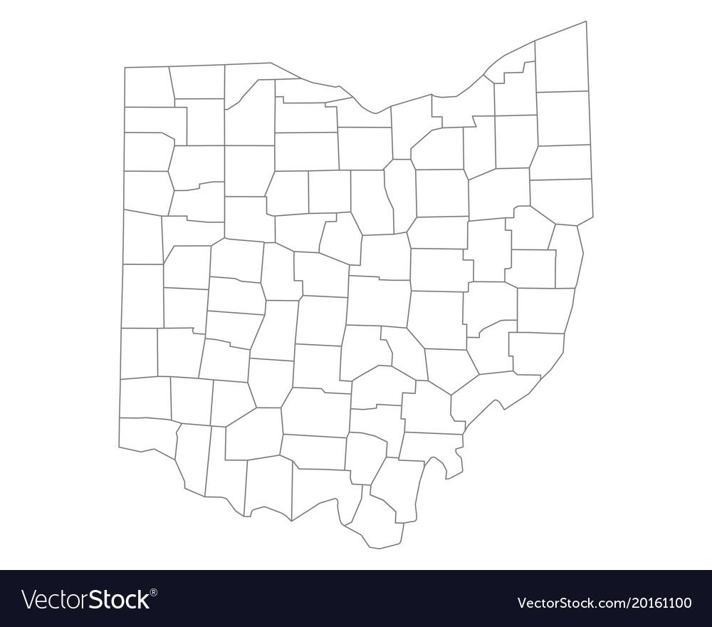 Free Ohio Map.Map Of Ohio Vector Image