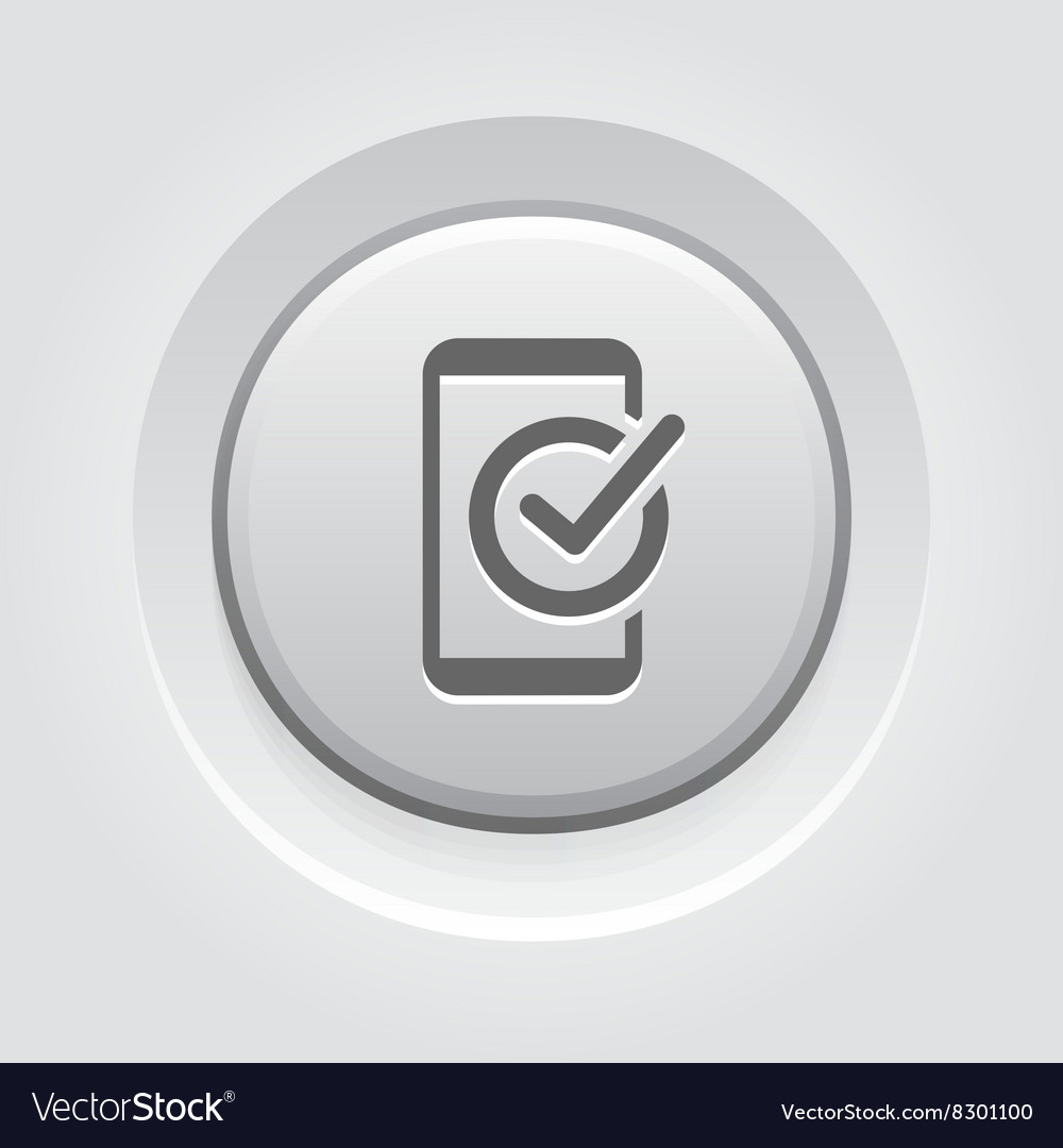 Mobile Register Icon Online Learning vector image