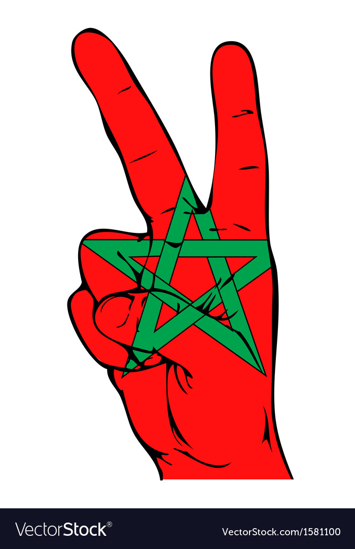 Peace Sign Of The Moroccan Flag Royalty Free Vector Image