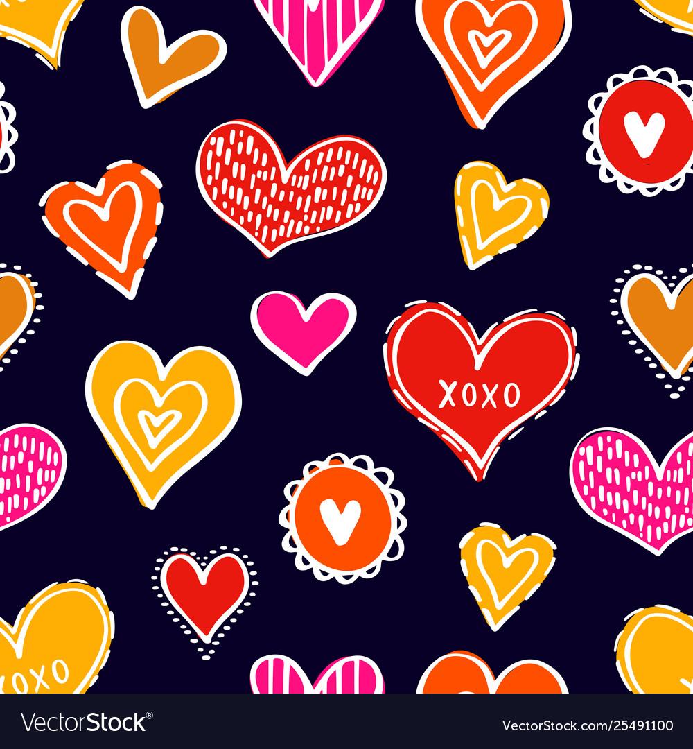 Seamless hearts pattern-13