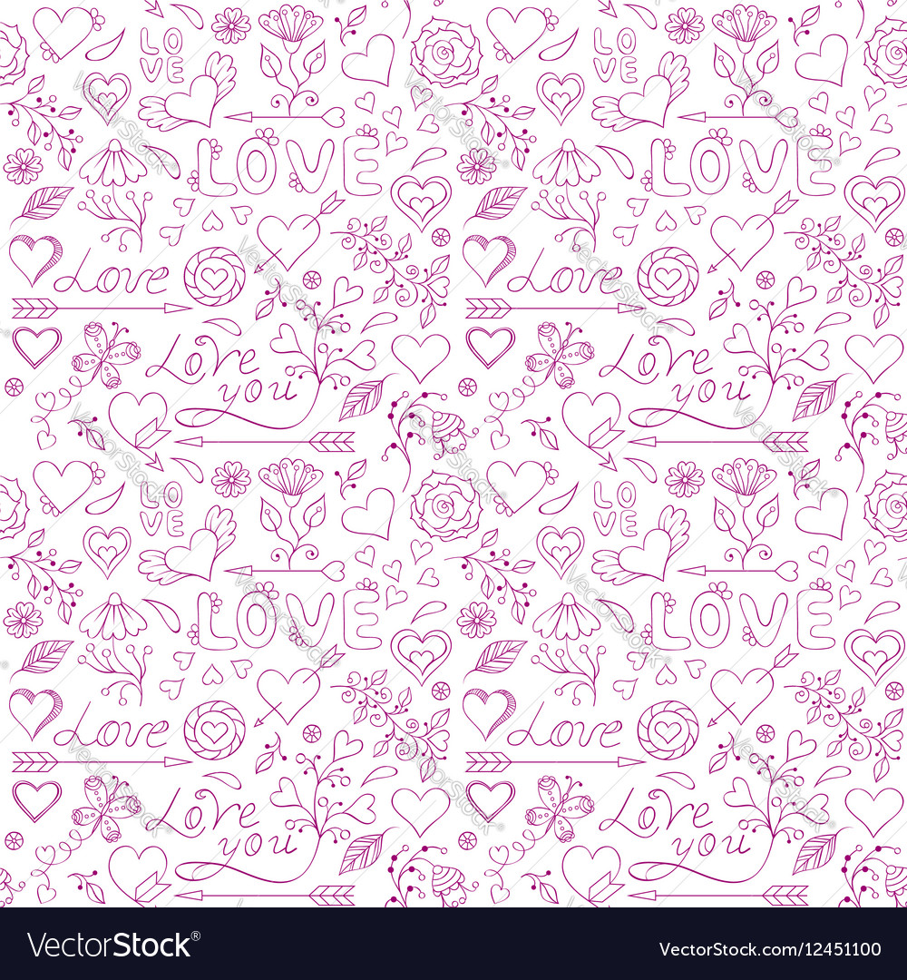 Seamless pattern for Valentine s day