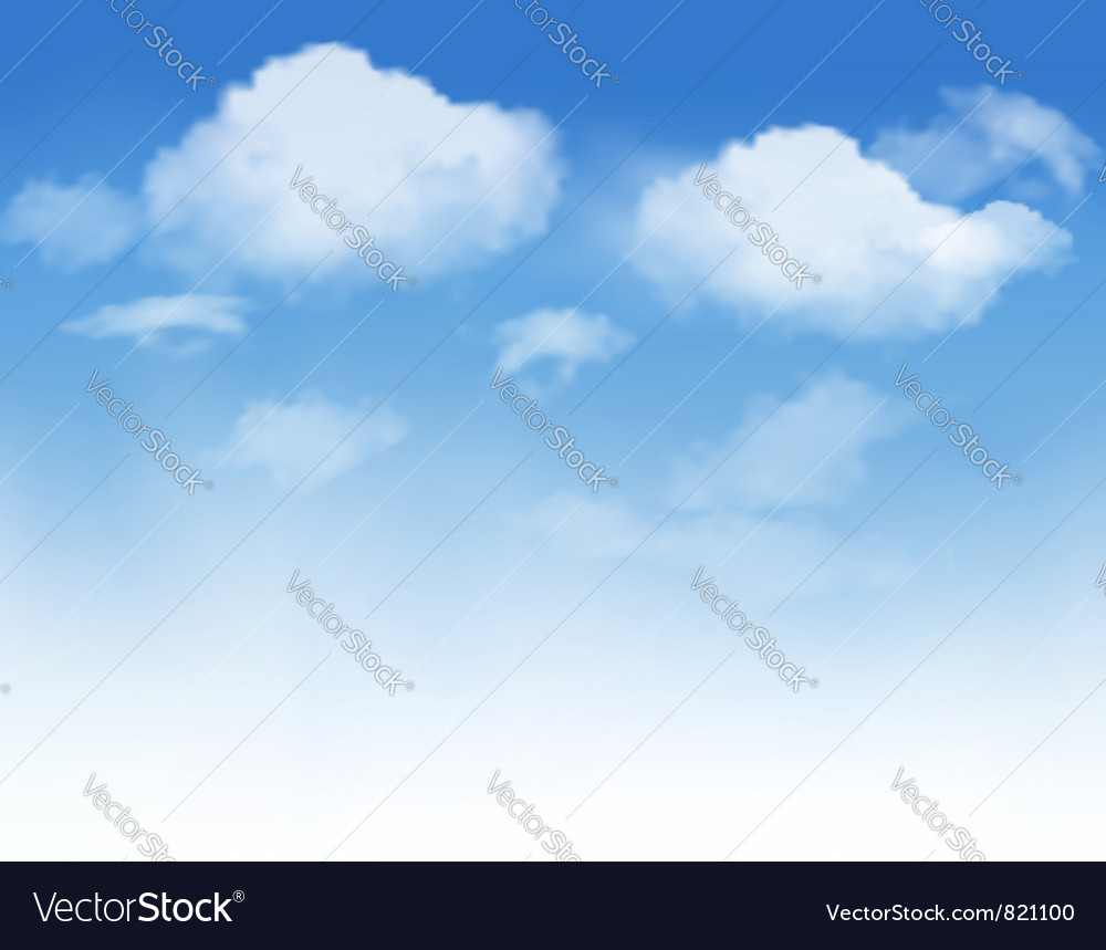 White clouds in a blue sky vector image