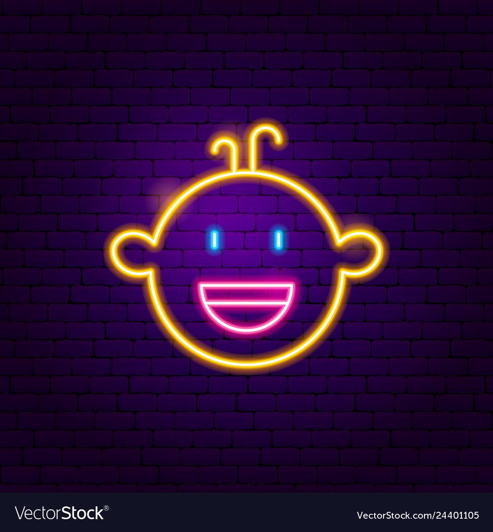 Boy face neon sign