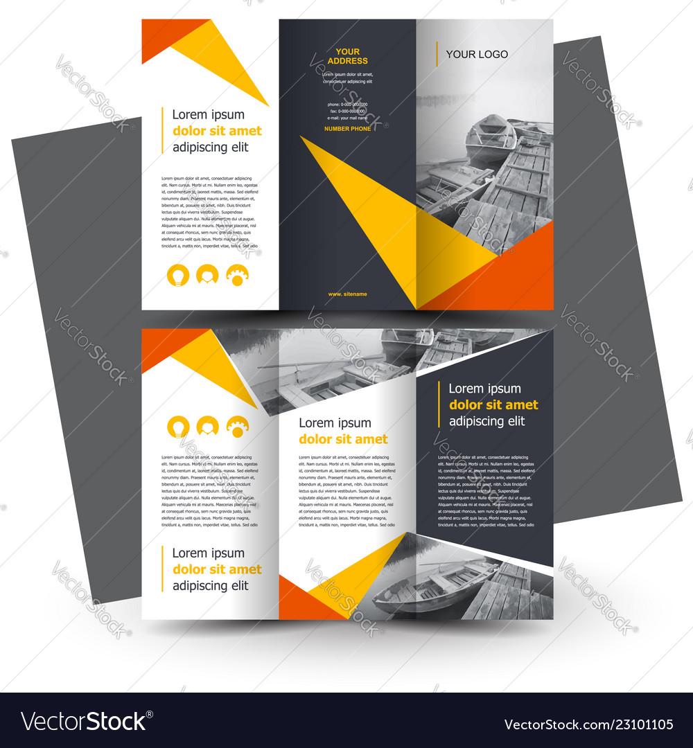Brochure Design Template Creative Tri Fold