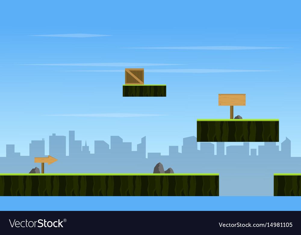 City Scenery Style Game Background