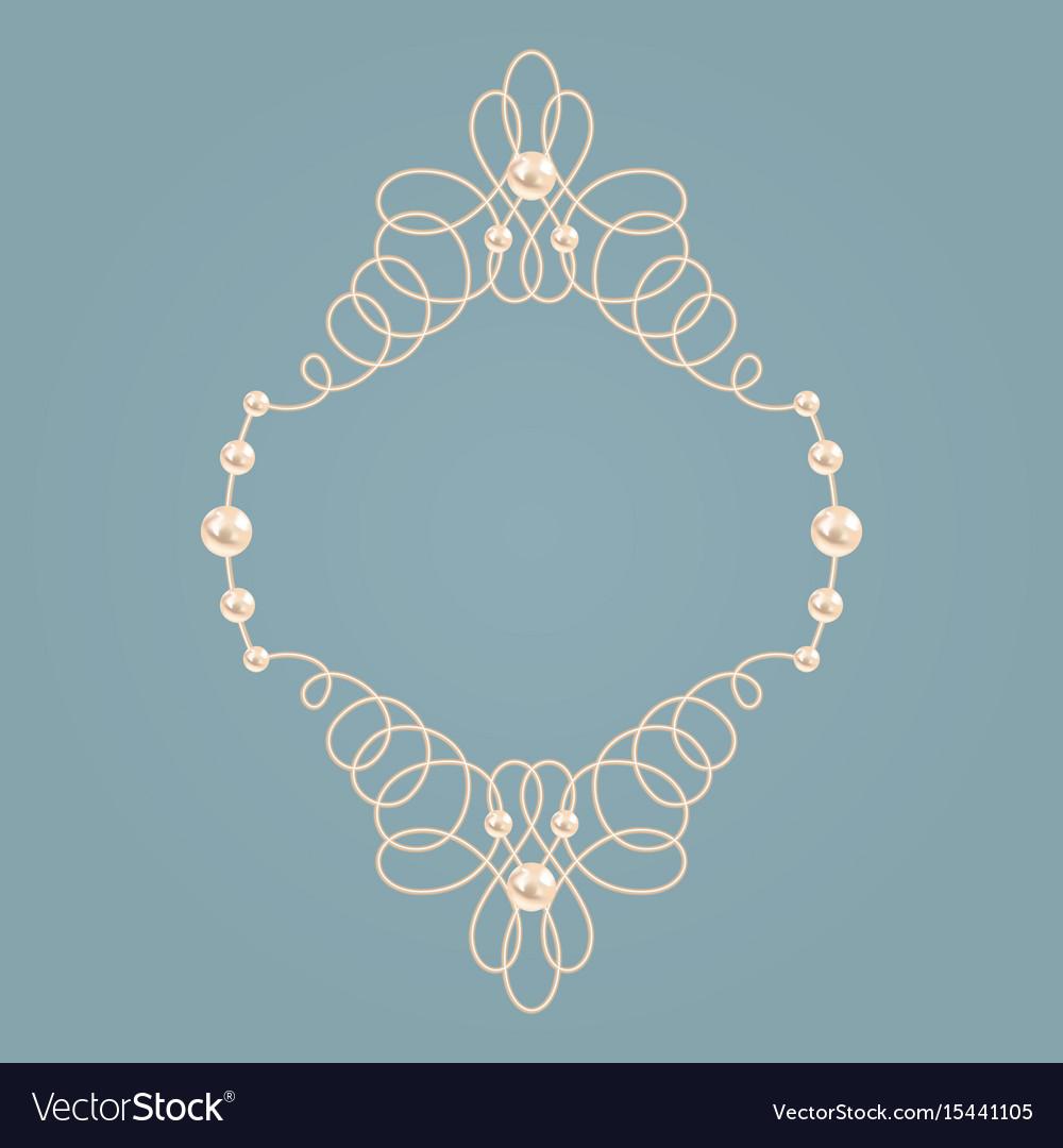 Elegant golden knot frame vector image