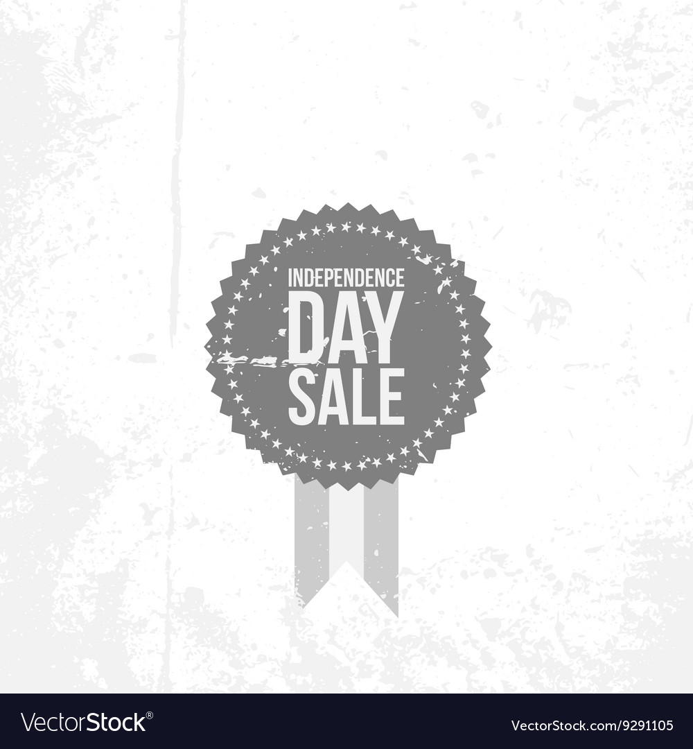 Independence Day 4th of July Sale flat Emblem