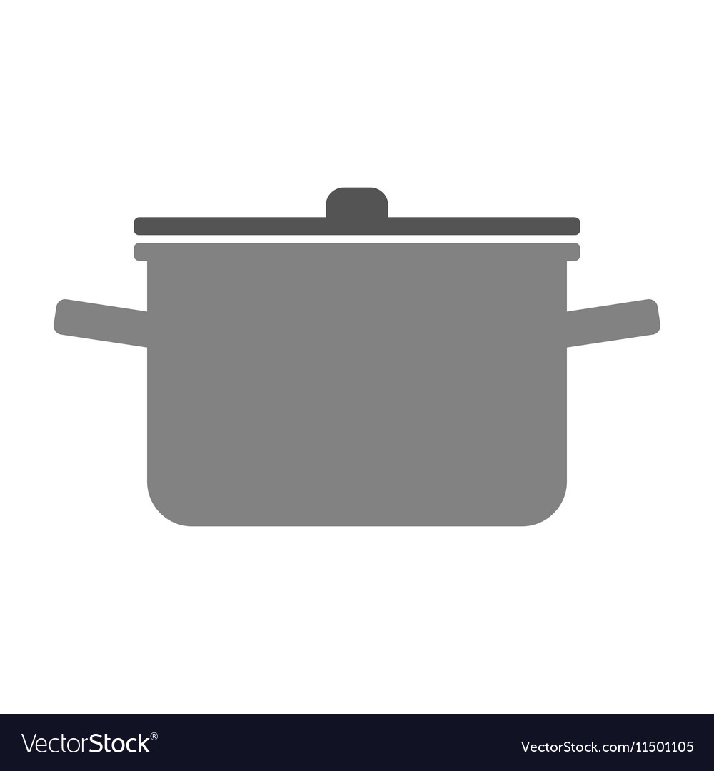 Pot with lid Flat color icon of dishes for