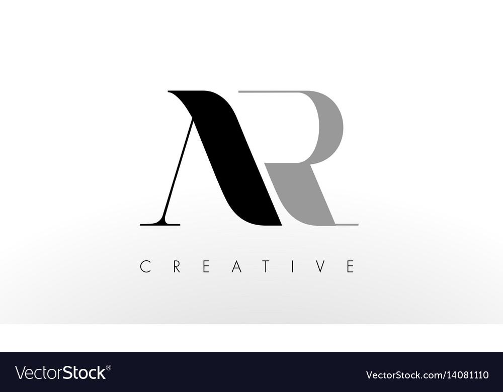 A R Letter Logo Design Creative Ar Letters Icon Vector Image