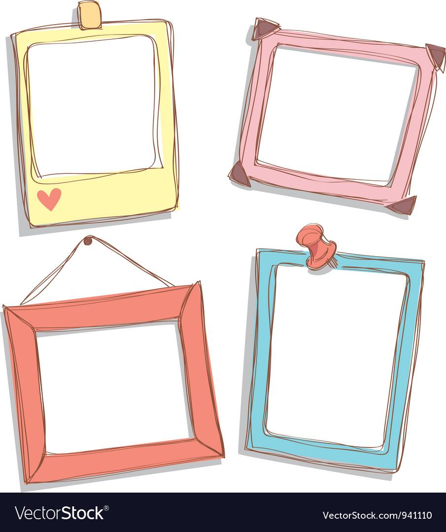 Cute Frame Royalty Free Vector Image Vectorstock
