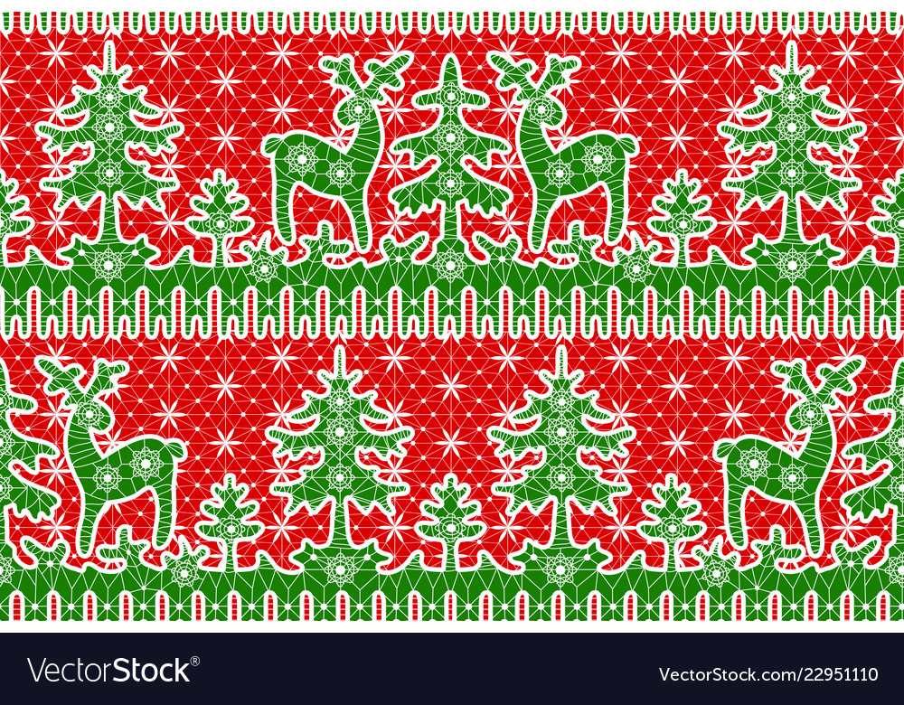 Lace red background wirh deer