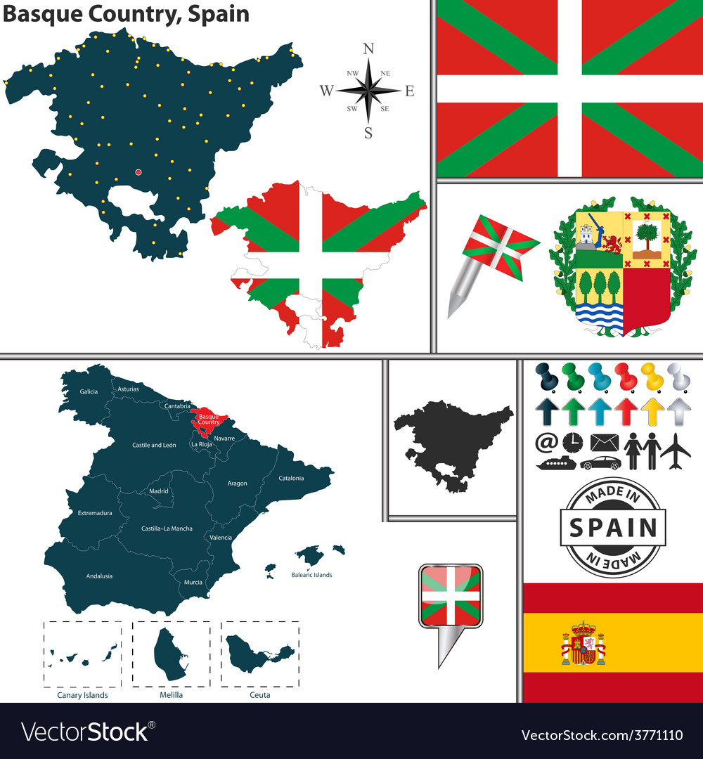 Basque Map Of Spain.Map Of Basque Country