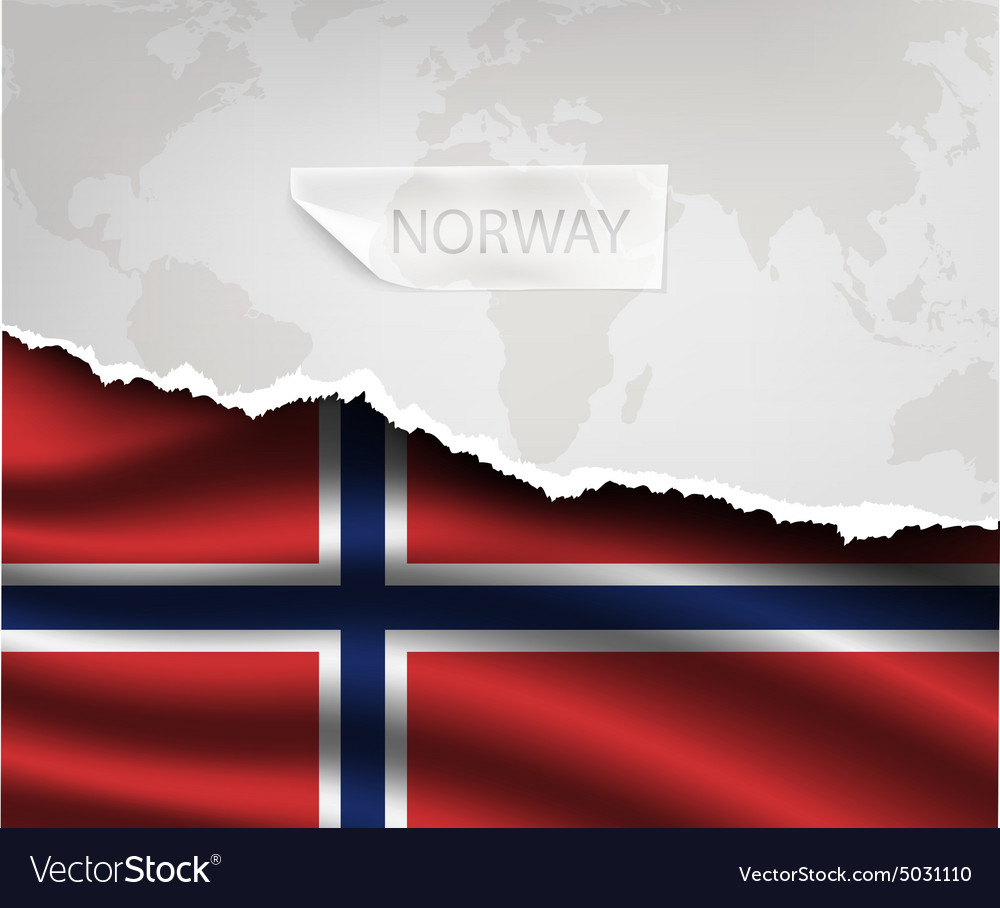 Paper with hole and shadows NORWAY flag