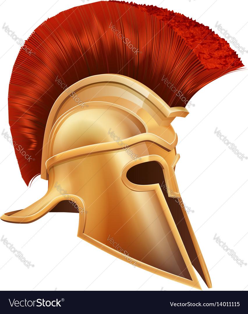 Ancient Greek Warrior Helmet Royalty Free Vector Image