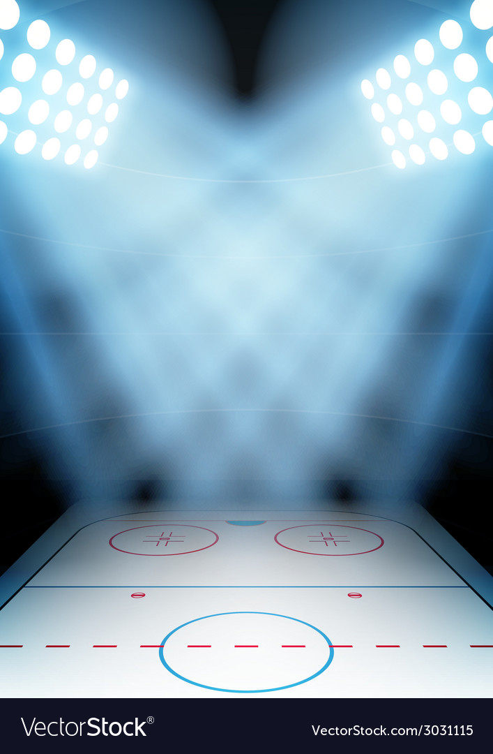 Background for posters night ice hockey stadium in