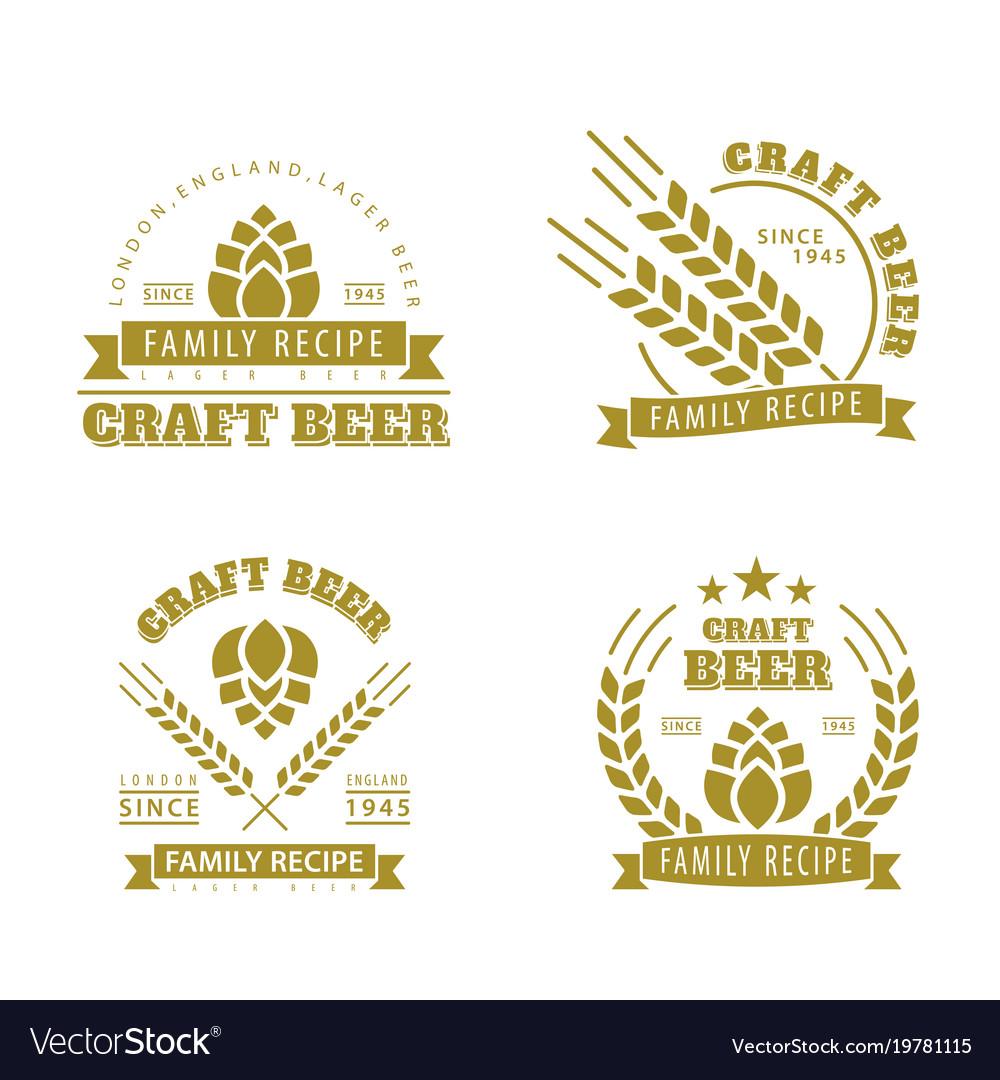 Beer set of emblems