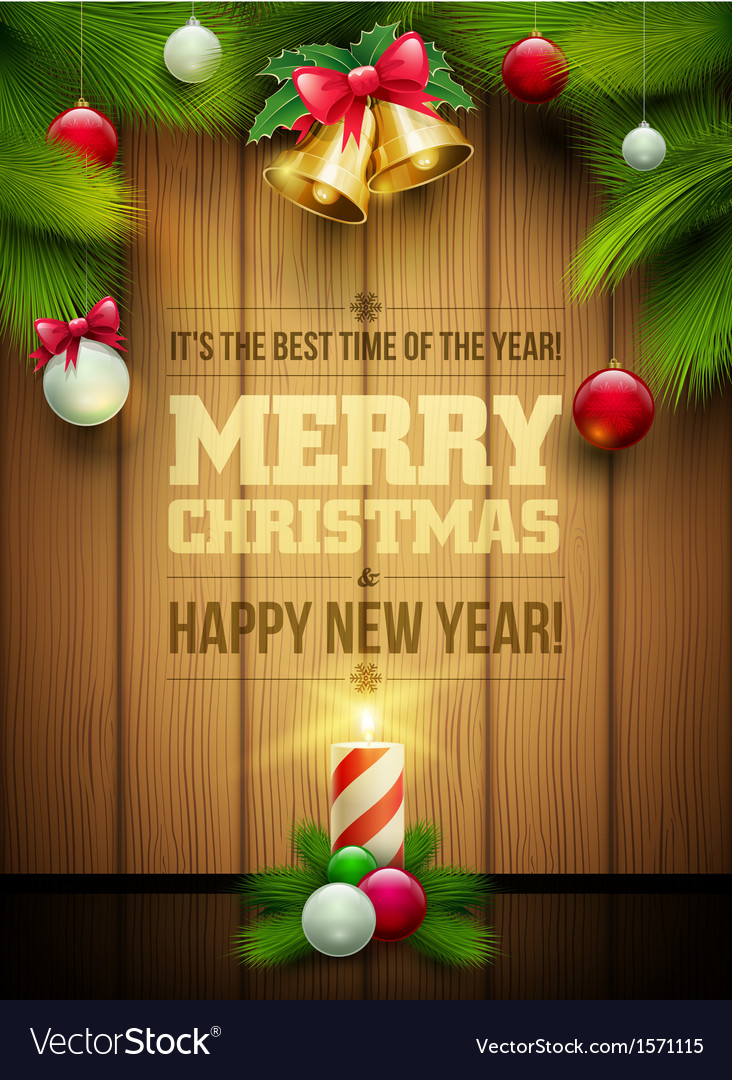 Christmas Message board Royalty Free Vector Image