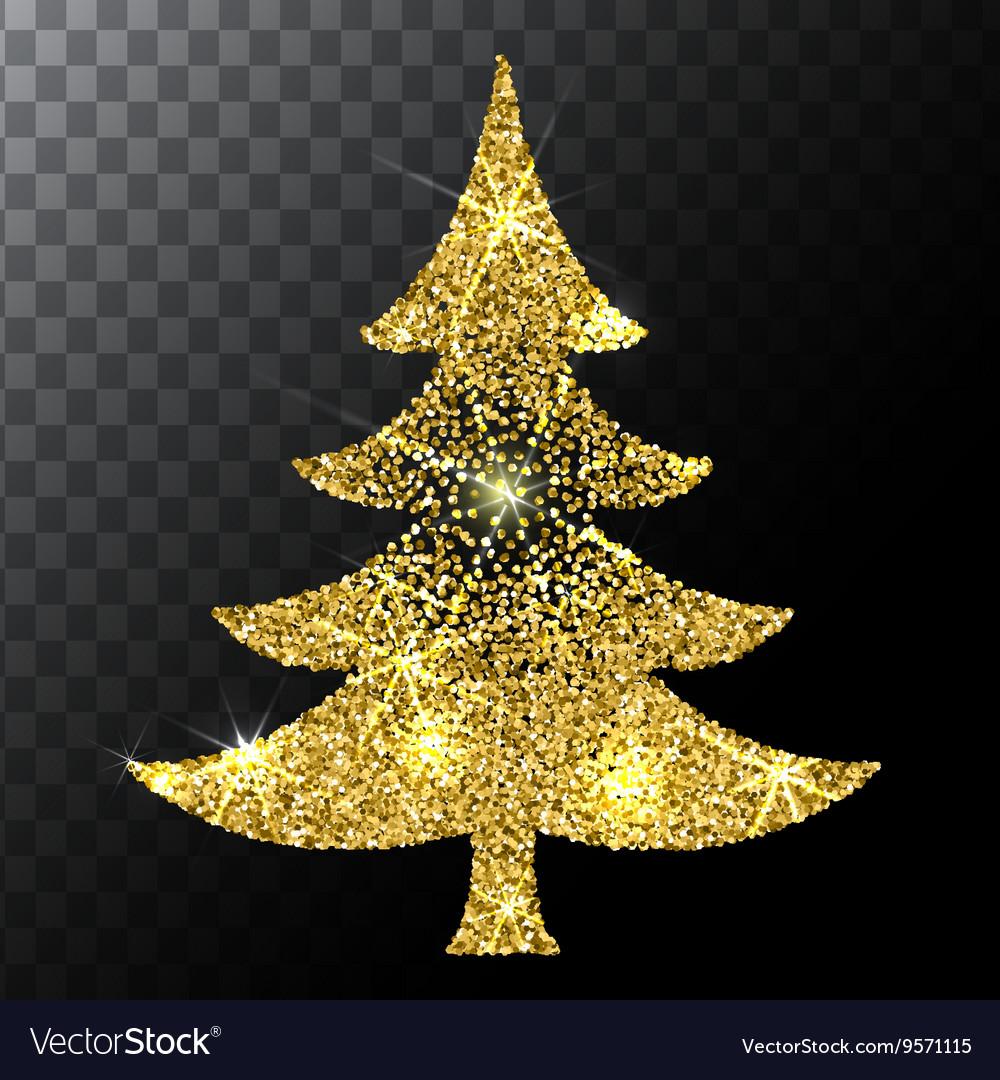 Christmas tree gold glitter background Eps