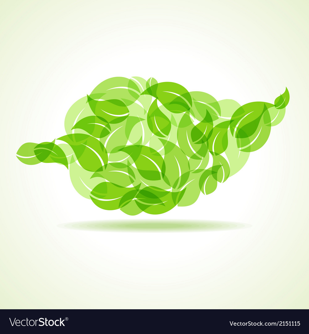 Eco leaves make a leaf icon vector image