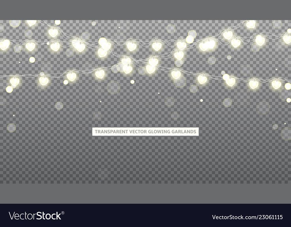 Glowing garlands with effect bokeh