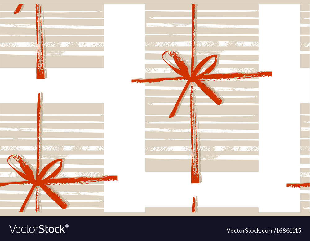 Hand made abstract merry christmas vector image