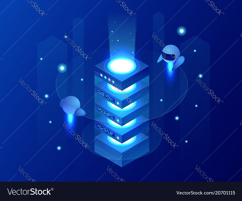 Isometric concept of big data processing energy