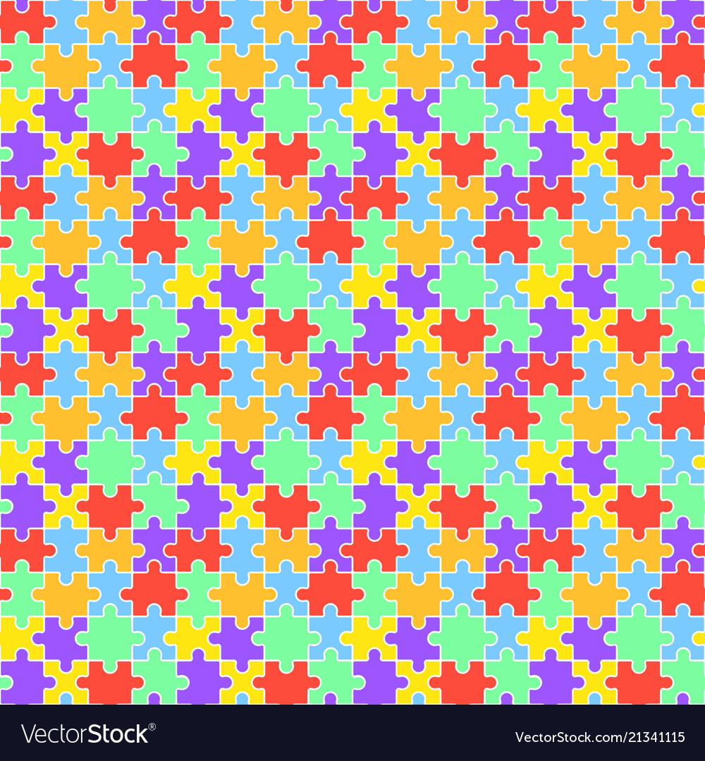 Lgbt jigsaw seamless pattern vector