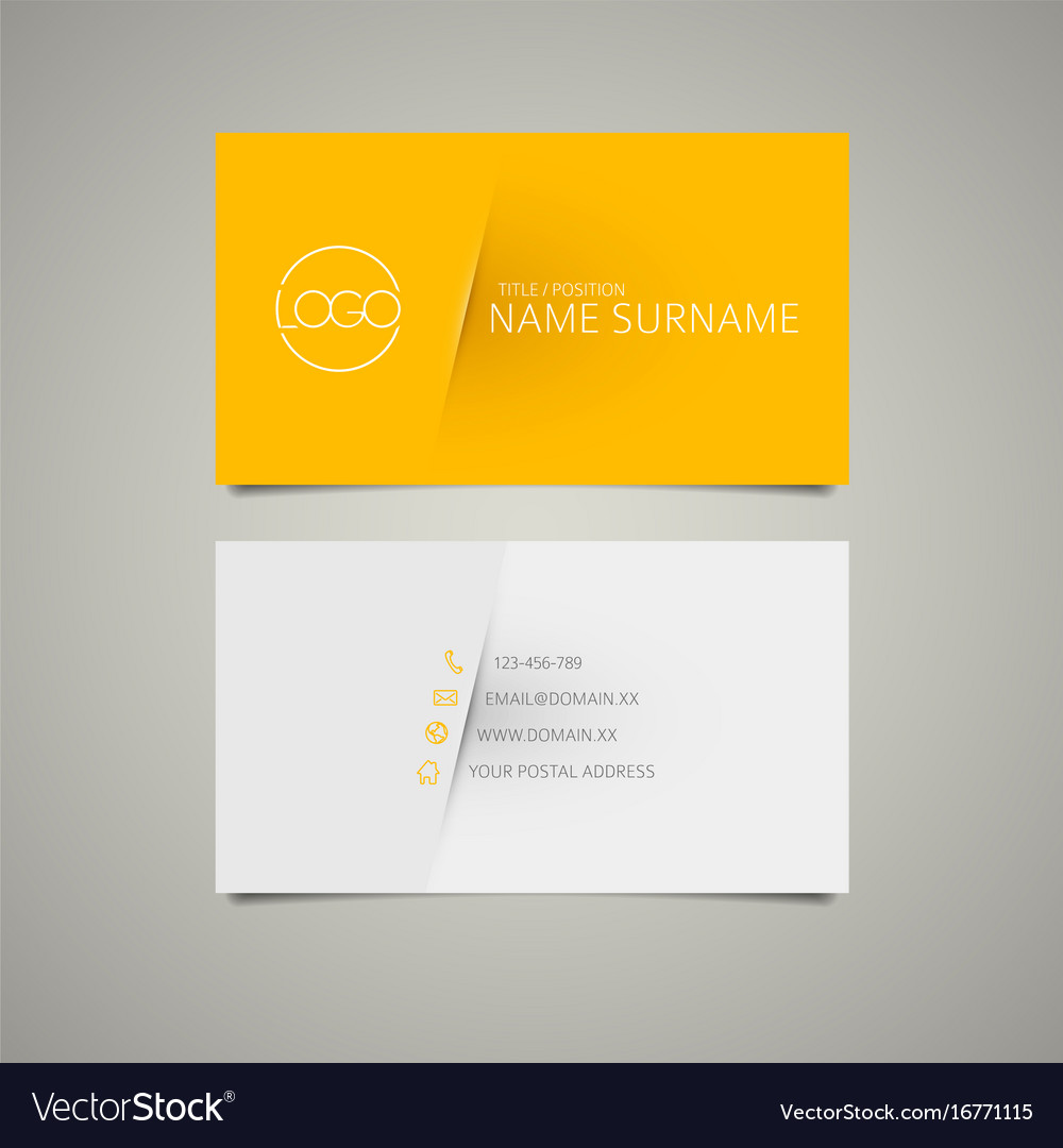 Modern simple business card template royalty free vector modern simple business card template vector image accmission Choice Image