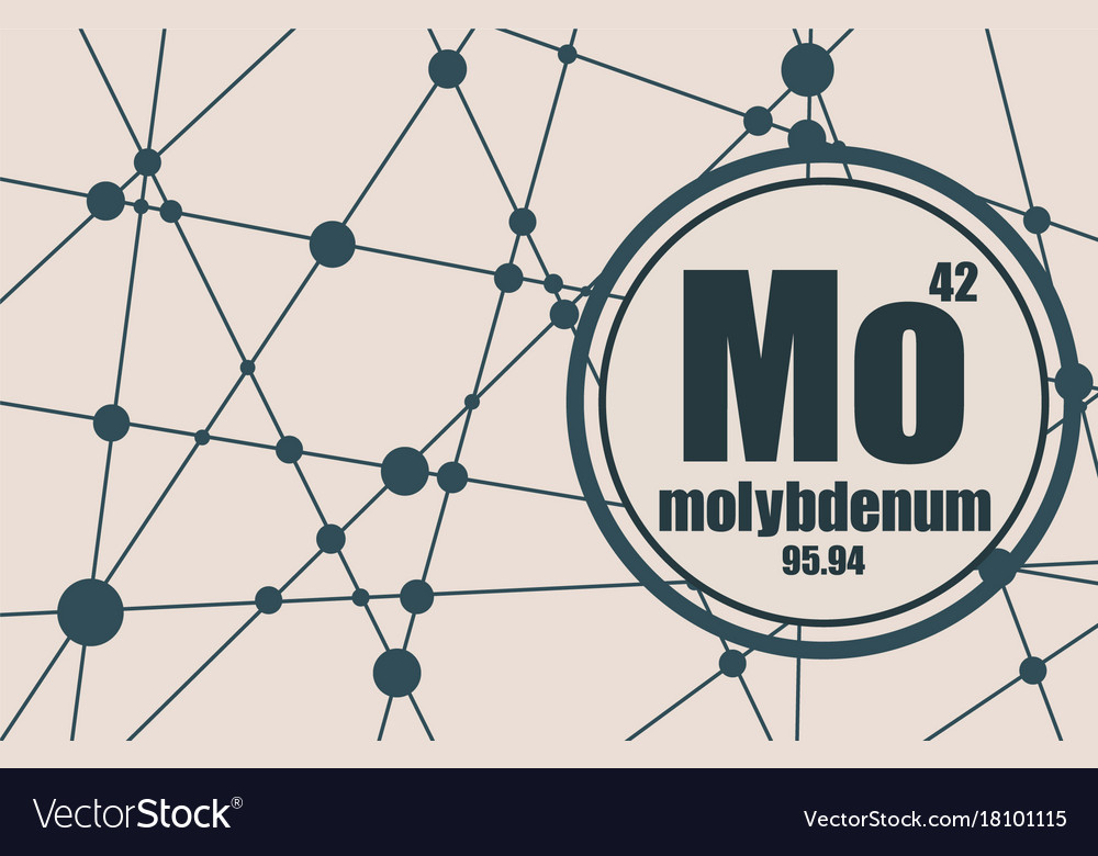 Molybdenum Chemical Element Royalty Free Vector Image