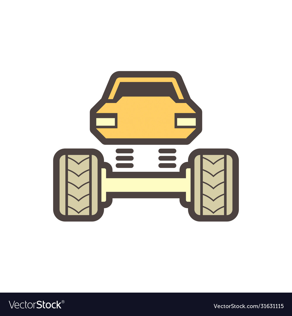 Off road truck icon