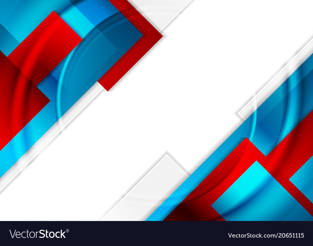 Red And Blue Glossy Geometric Background