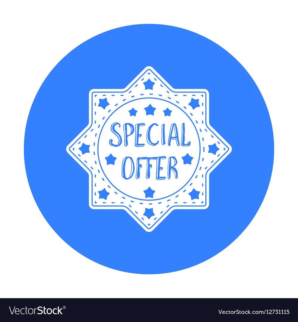 Special offer icon in black style isolated on