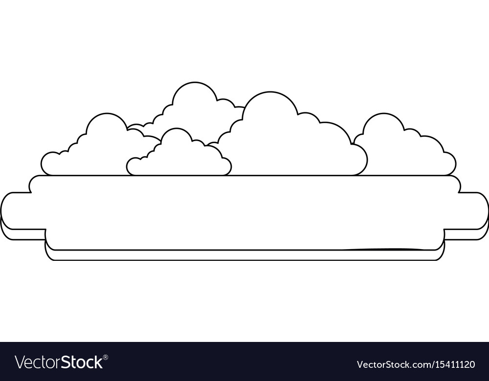 Blank banner with clouds