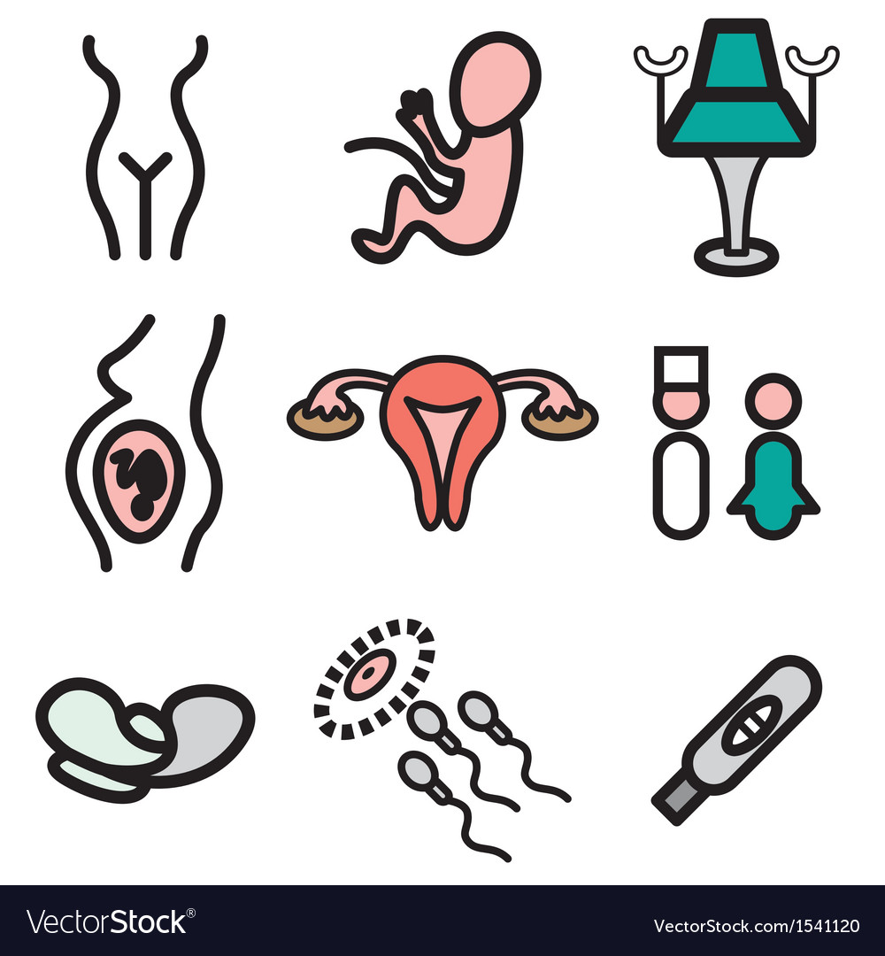 Logo icons gynecology vector image