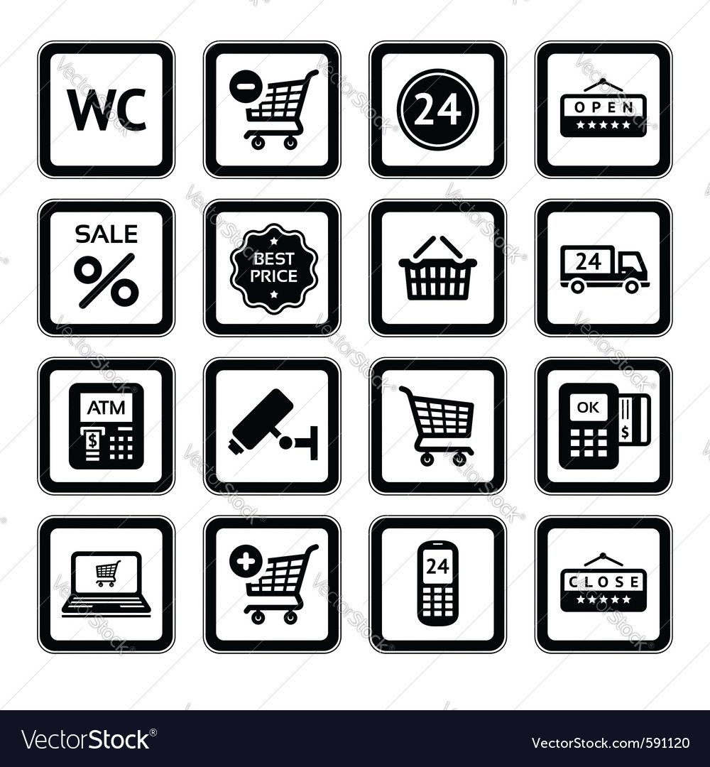 Supermarket services vector image