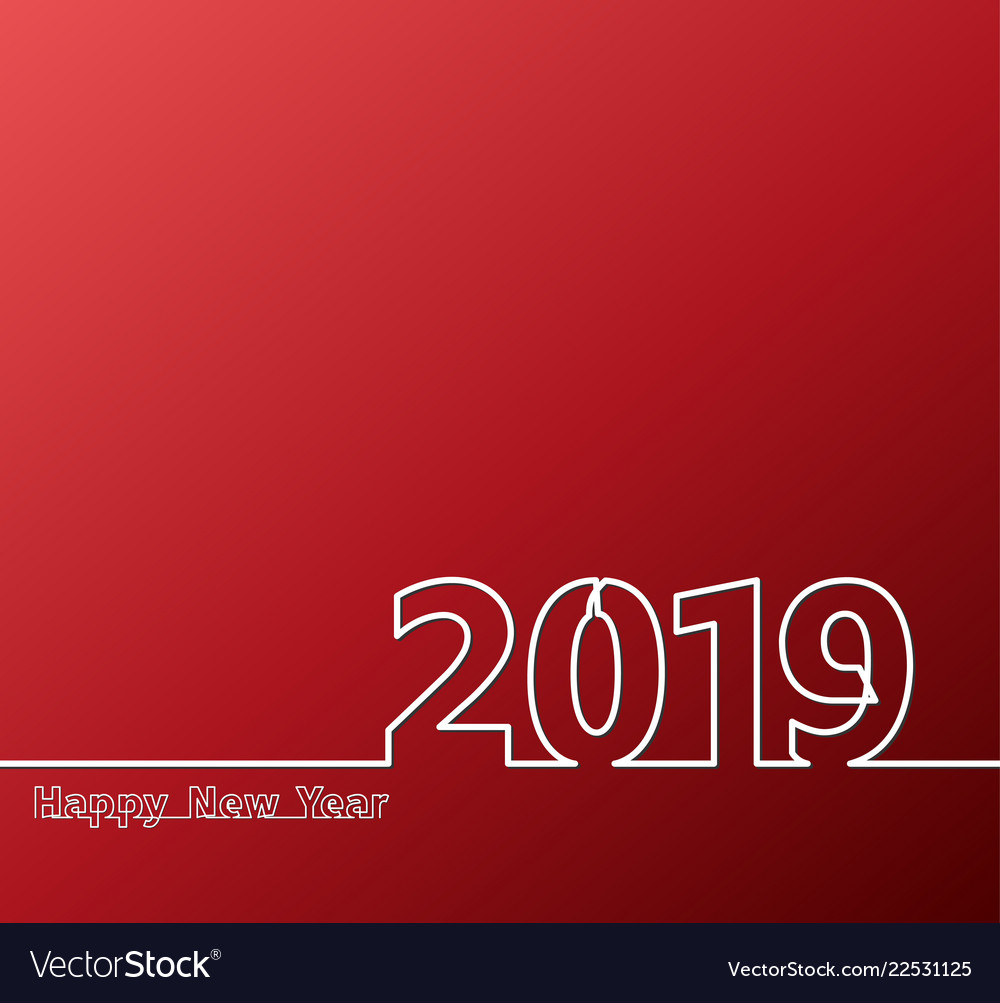 2019 one line red