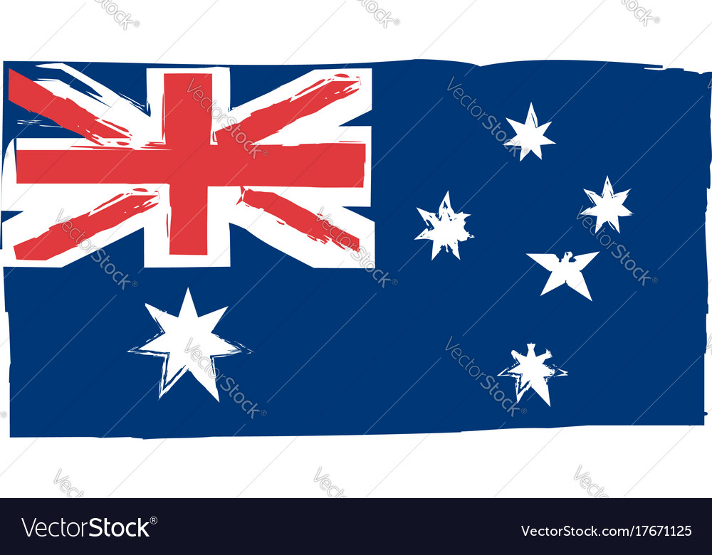 Abstract australian flag or banner