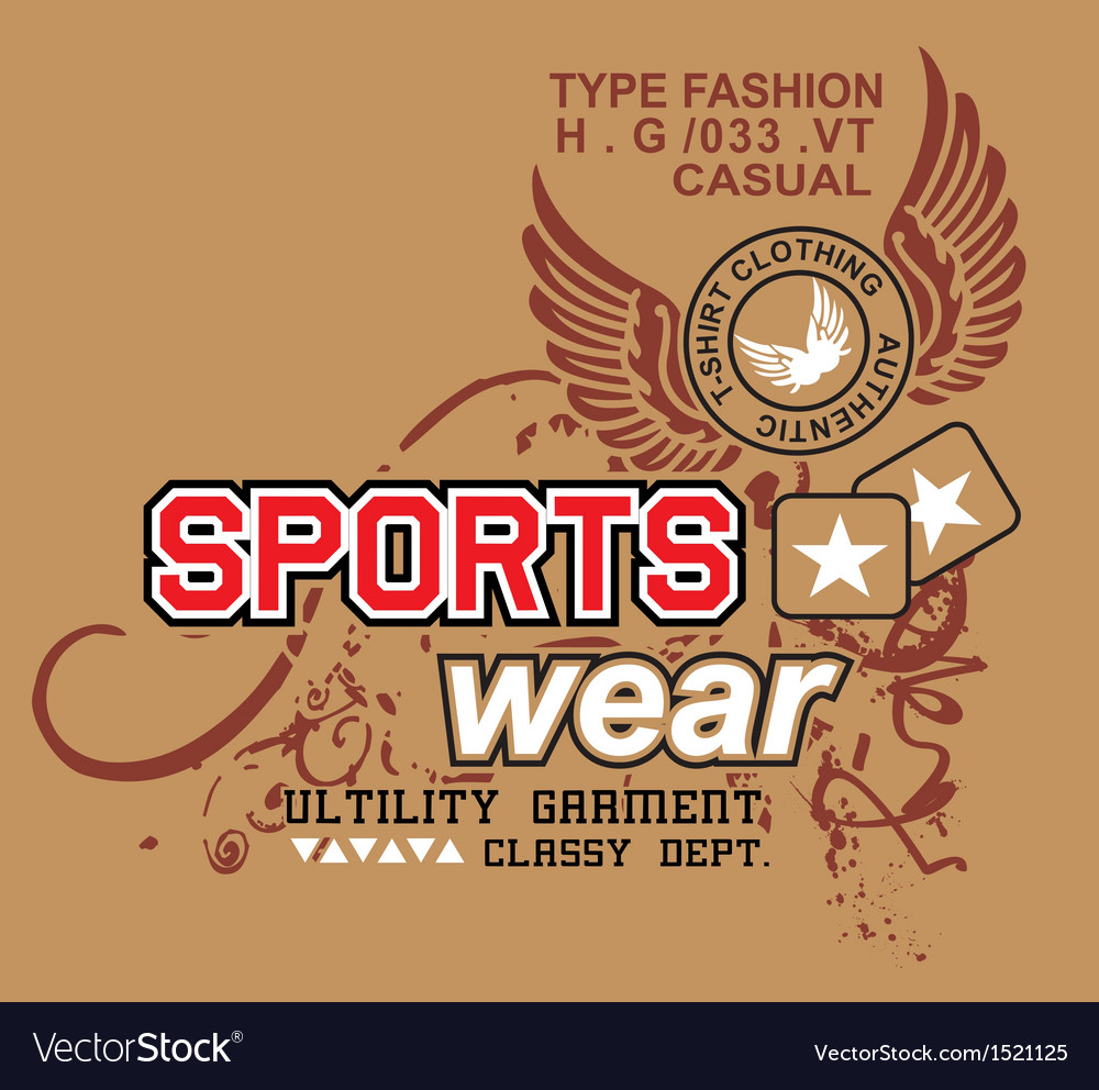 Art design with models sportswear vector image