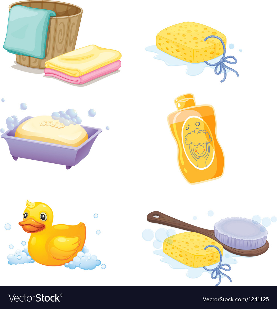 Bathroom accessories vector image