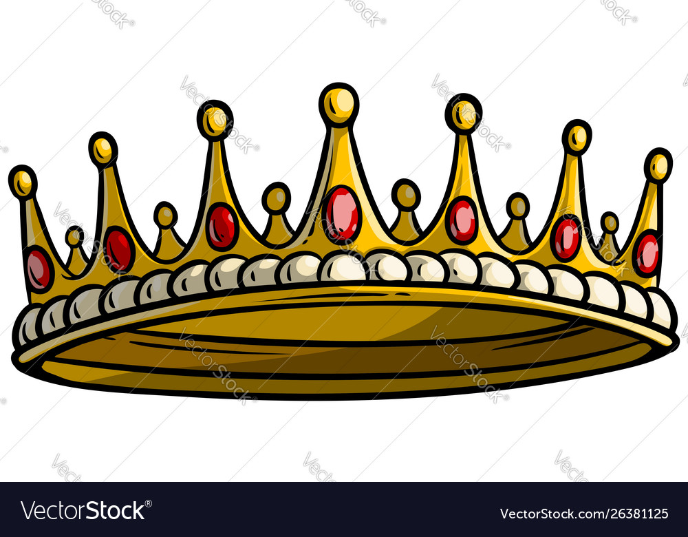 Cartoon Golden Royal King Crown Royalty Free Vector Image Courtesy of sophie the broadcaster john sergeant thinks the netflix drama the crown is dangerous … i think we're now. vectorstock