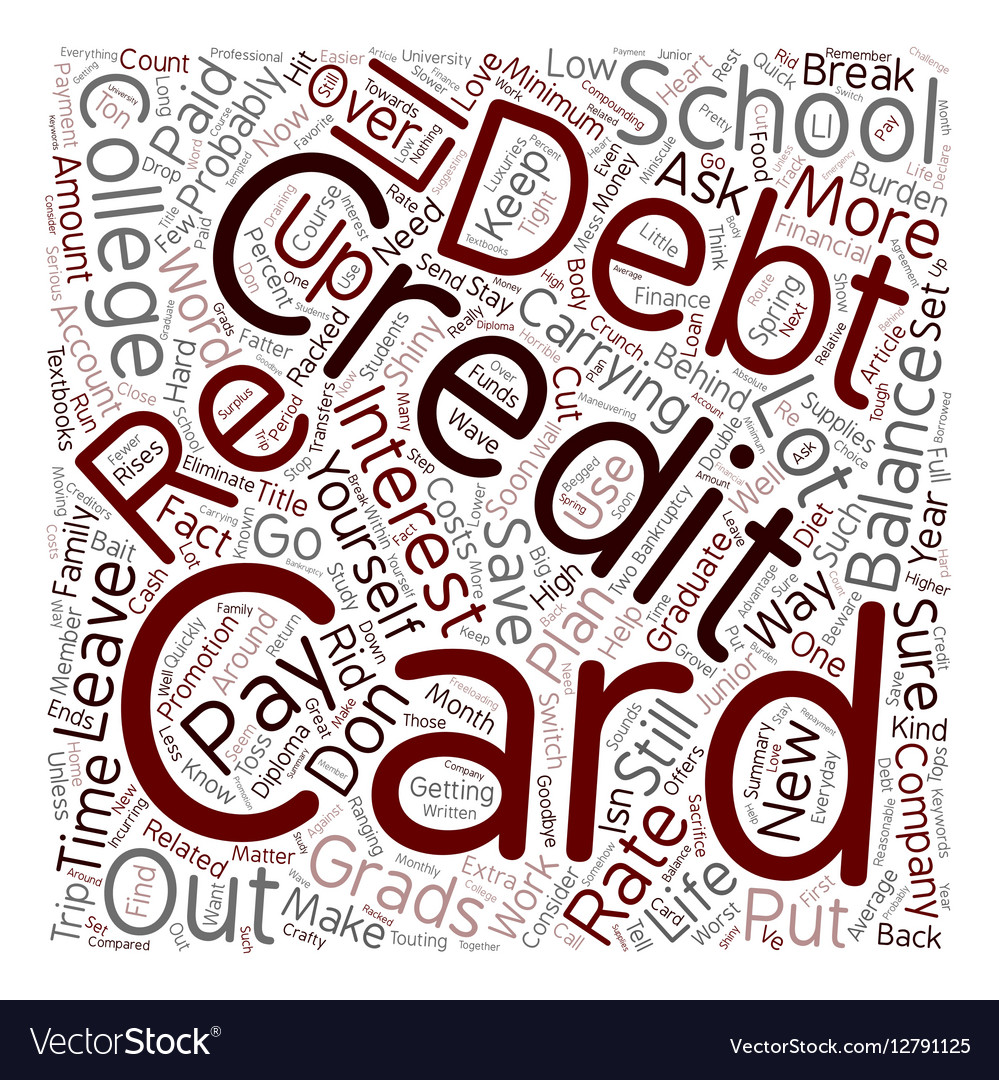 College Grads Wave Goodbye To Credit Card Debt