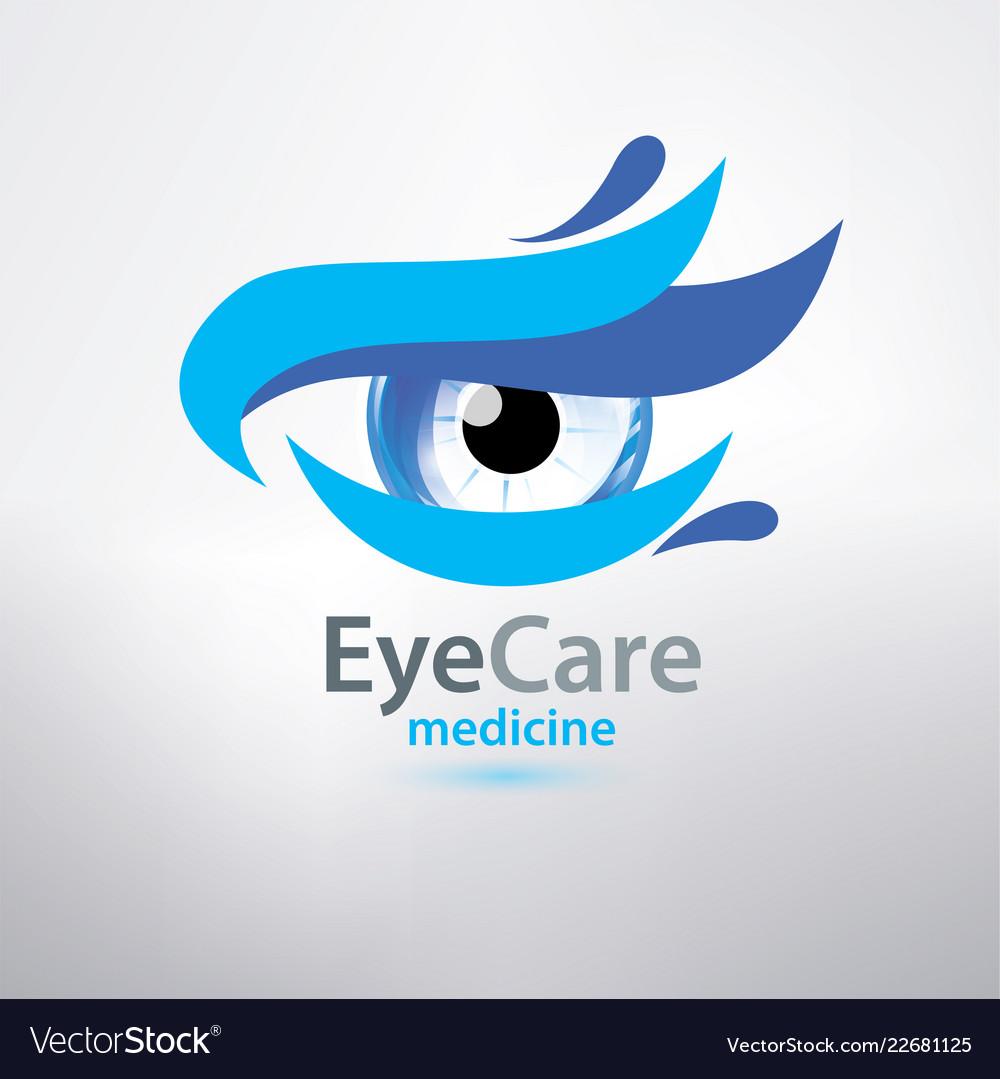 Eye care logo template stylized symbol of optical