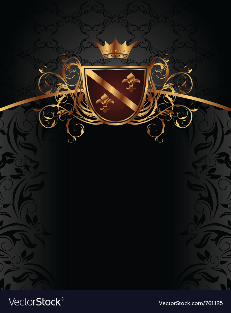 Gold vintage with heraldic elements vector image